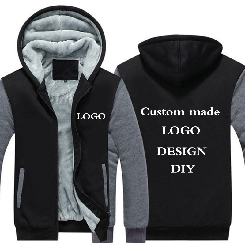 Drop Shipping USA Size Men Hoodies, Sweatshirts Personlig skräddarsydda LOGO Printed Design DIY Men's Custom made Jackor Coats