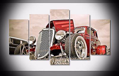 Artistic originality Indoor Art  Abstract Indoor Decor Hot Rod Car Vintage Artcanvas decoration 5 piecesArtistic originality Indoor Art  Abstract Indoor Decor Hot Rod Car Vintage Artcanvas decoration 5 pieces
