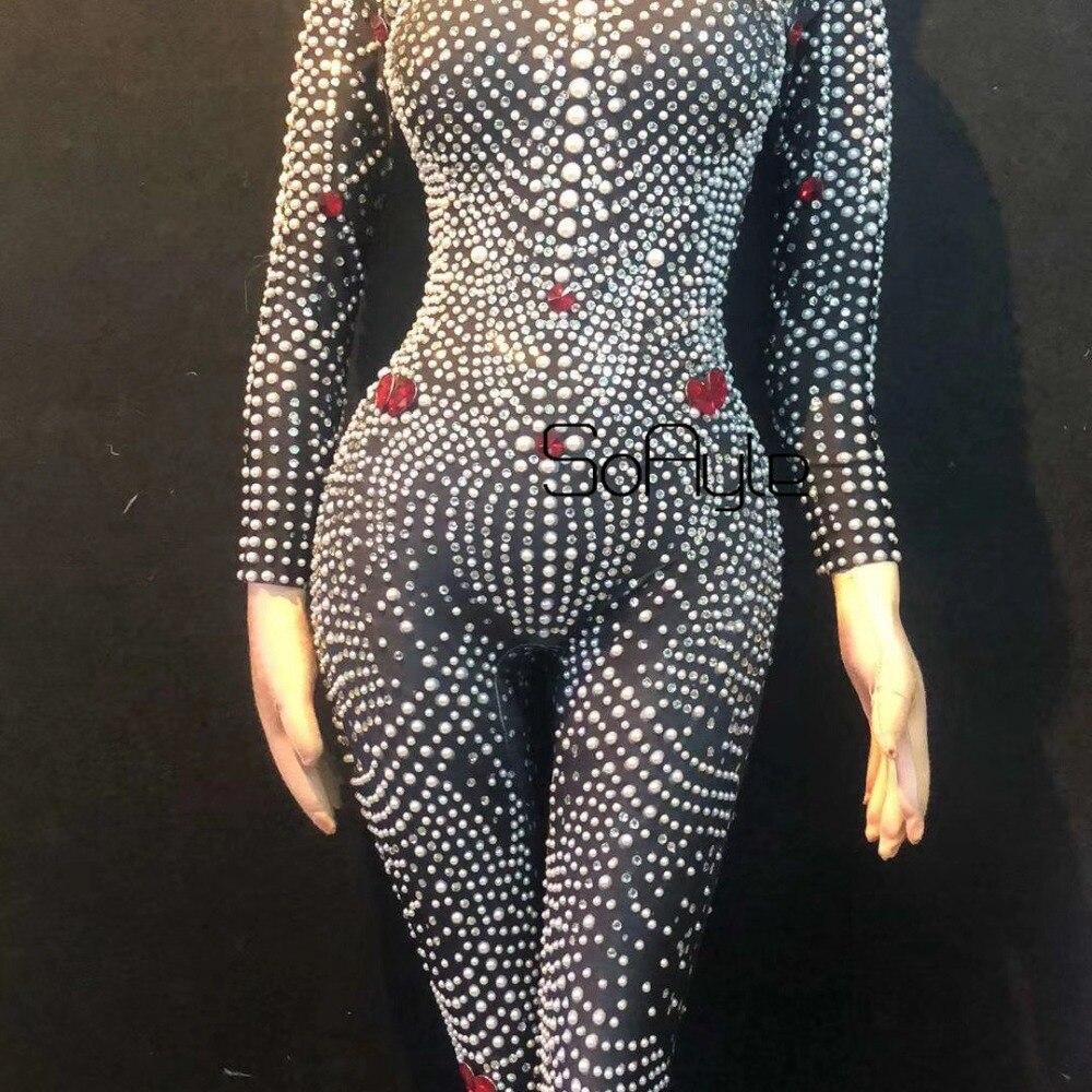 Spectacle Salopette Femmes Discothèque 2019 Noir Body Chanteuse Perles De Livraison Déguisement Extensible Leggings Soayle Strass qxZwYX7cff