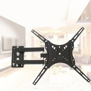 Настенный кронштейн для телевизора для большинства 14-55 дюймов, светодиодный ЖК-монитор с плоским экраном Plasma 110 фунтов VESA 400x400 с поворотом на...