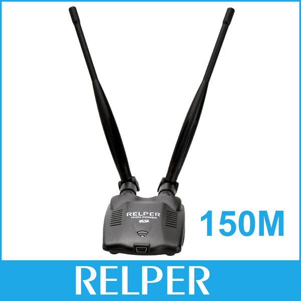 Free Shipping RELPER 3000mW 48dBi 150Mbps High Power Clipper b/g USB Wireless Wifi Adapter Come with Omni Antenna