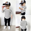 5pcs/lot T-shirts for girls children shirt boys tops cotton girls tees Striped Autumn basic shirt