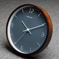 10 inch Wooden Wall Clock Desk Clock Silent Non Ticking Quartz Watch for Bedroom Living Room Home Decoration Top Quality