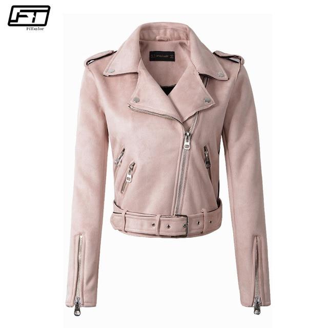 bad279b4629 Fitaylor primavera otoño chaqueta rosa