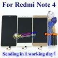 Alta qualidade display lcd + digitador assembléia tela de toque para xiaomi redmi note 4 hongmi nota 4 celular com ferramentas gratuitas