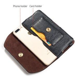 Image 4 - Chezvous 파우치 가죽 전화 케이스 아이폰 xs x 6 7 8 플러스 xs 최대 허리 가방 범용 벨트 클립 4.7 6.4 인치 삼성 화웨이