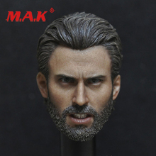 New 1:6 Scale Male Head Sculpt Avengers 3: Infinity War Captain America Steve Rogers Carved Model for Collection