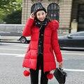 Mulheres manteau femme 2016 parka casaco jaqueta de inverno casacos das mulheres jaquetas e parkas para casaco de pele jaqueta feminina para baixo Coréia nova