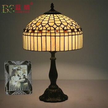 Модные дизайнерские турецкие мозаичные лампы E27 основание ручной работы стеклянный светильник для спальни прикроватная Винтажная настоль...