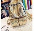 2016 Women Leather Backpack Black Bolsas Mochila Feminina Large Girl Schoolbag Travel Bag Solid Candy Color Gold Silver Purple