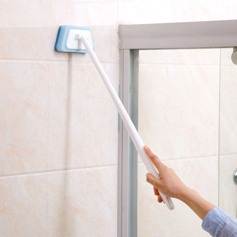 New Long handle Bathroom toilet brush window Glass Bathtub wc cleaning brush kitchen bathroom accessories the window office paper sticker pervious to light do not transparent bathroom window shading white frosted glass tint