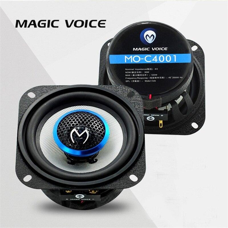 4 Pouce Haut-Parleur Auto Jumelé Automobile Automobile Voiture HiFi Coaxial Haut-Parleur avec des Basses et Tweeter Audio Musique Haut-parleurs pour Voiture