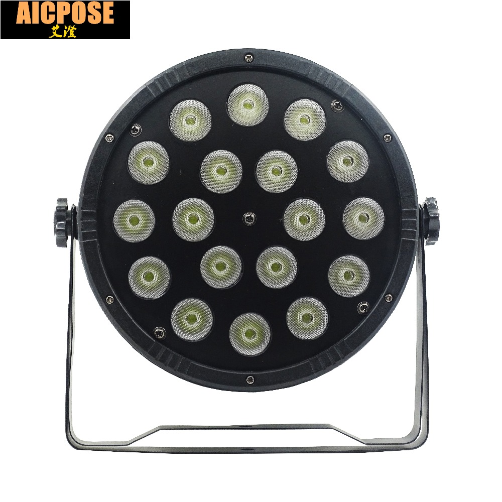 18pcs 12w led lamp beads 18x12W led Par lights RGBW 4in1 flat par led dmx512 disco lights professional stage dj equipment 2pcs lot rgbw 4in1 18x12w led par full color disco lights dmx512 par led professional dj equipment dye with power in power out
