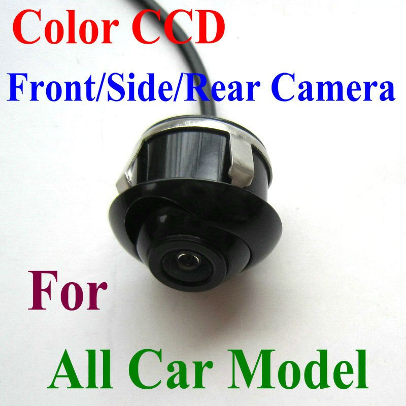 Free shiping  CCD HD night vision 360 degree car front view camera front view side