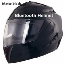 Bluetooth 2018 Новое поступление moto rcycle шлем Высокое качество off road racing casco capacete флип двойной объектив большой