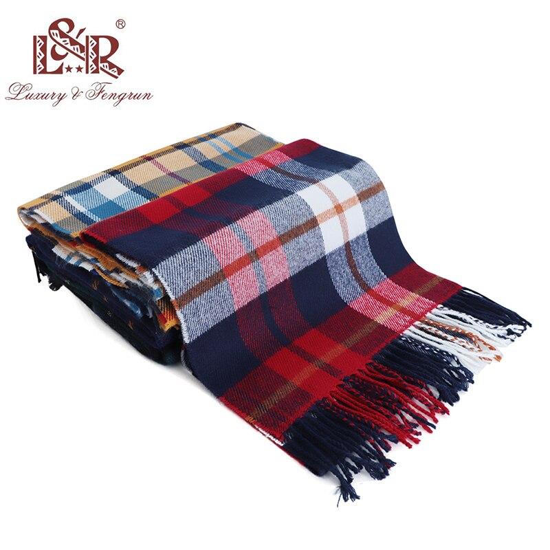 2018 Autumn Winter Cashmere Children Scarf Classic Plaid Kid Scarves Foulard Girl Wool Shawls Women Winter Sjaal Bufandas Hombre