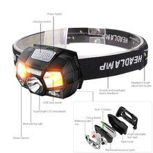 5000 Lumen LED Headlamp Motion Sensor Ultra Bright Hard Hat Head Lamp Powerful Headlight USB Rechargeable Waterproof Flashlight