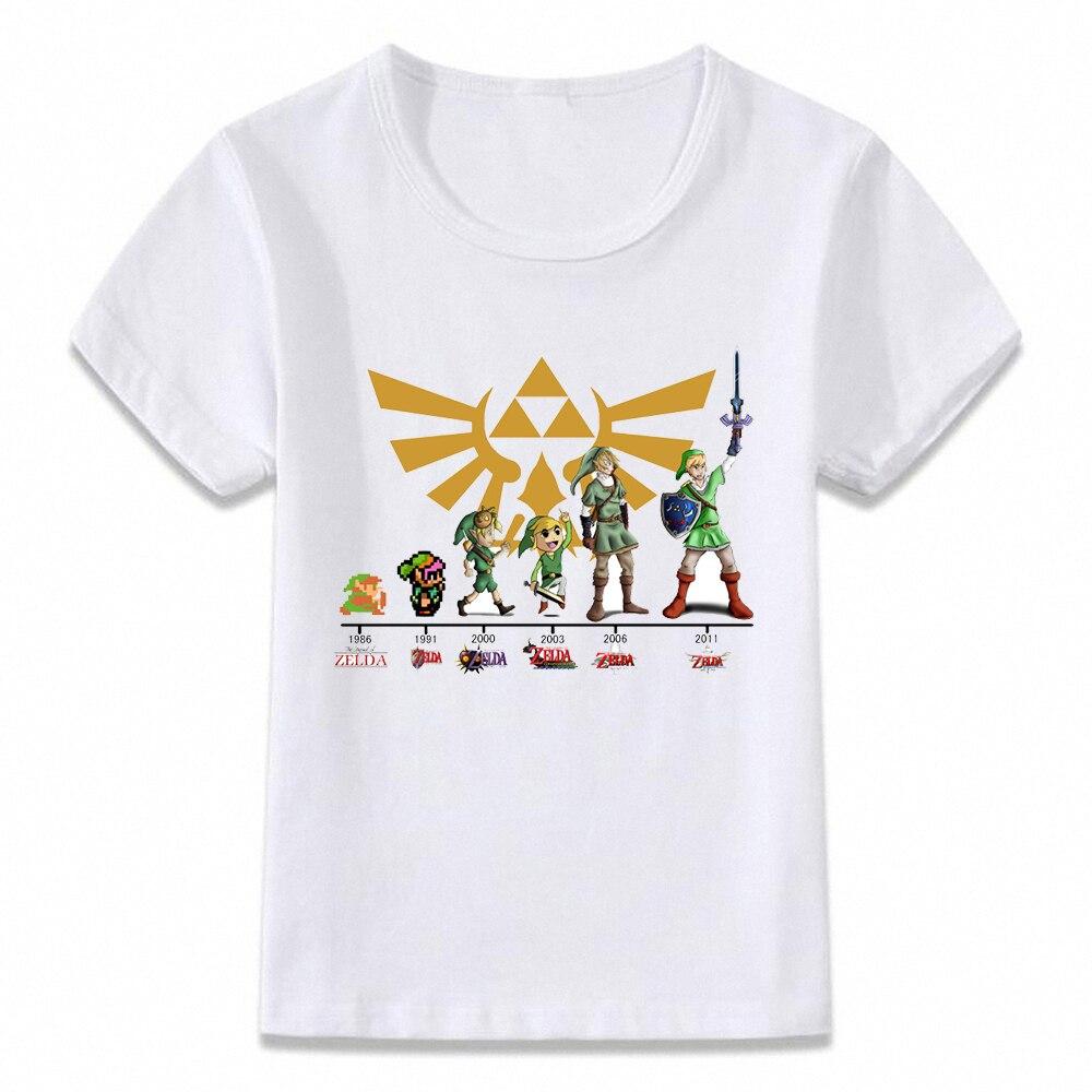 Kids Clothes T Shirt Link Evolution Zelda