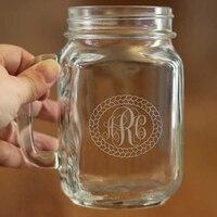 450ML Large Capacity 1 Marson Jar Glass Mason Cup Stylish Wedding Mason Bottle Water Juice And