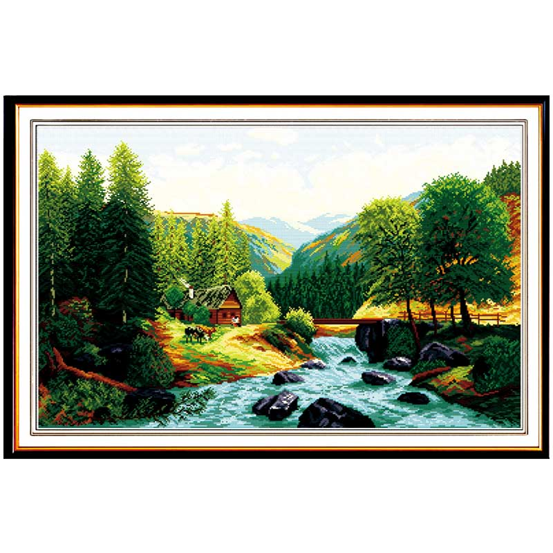 Bridge,River,Home Patterns Counted Cross Stitch 11CT 14CT Cross Stitch Sets Chinese Cross-stitch Kits Embroidery Needlework