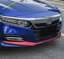 цена на Lapetus Front Bumper Bottom Protection Stripes Cover Trim Exterior Refit Kit Fit For Honda Accord 10th 2018 2019 2020 ABS