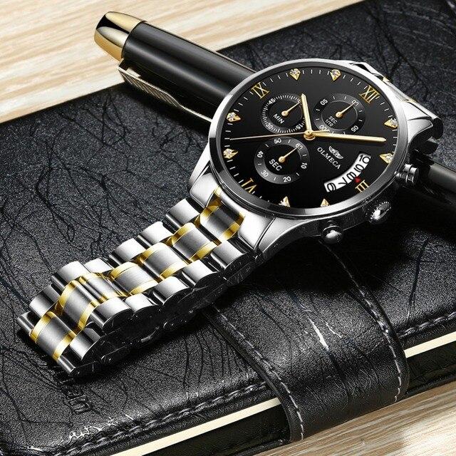 51e24d5f6a4e OLMECA superior de la marca de lujo de los hombres relojes deporte  analógico de cuarzo hombre impermeable militar Reloj reloj de acero  inoxidable