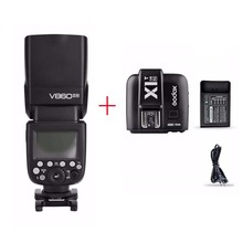 Godox V860II-N I-TTL HSS 2.4G Wireless Build-In Transceiver Flash + X1T-N Trigger For Nikon with charger