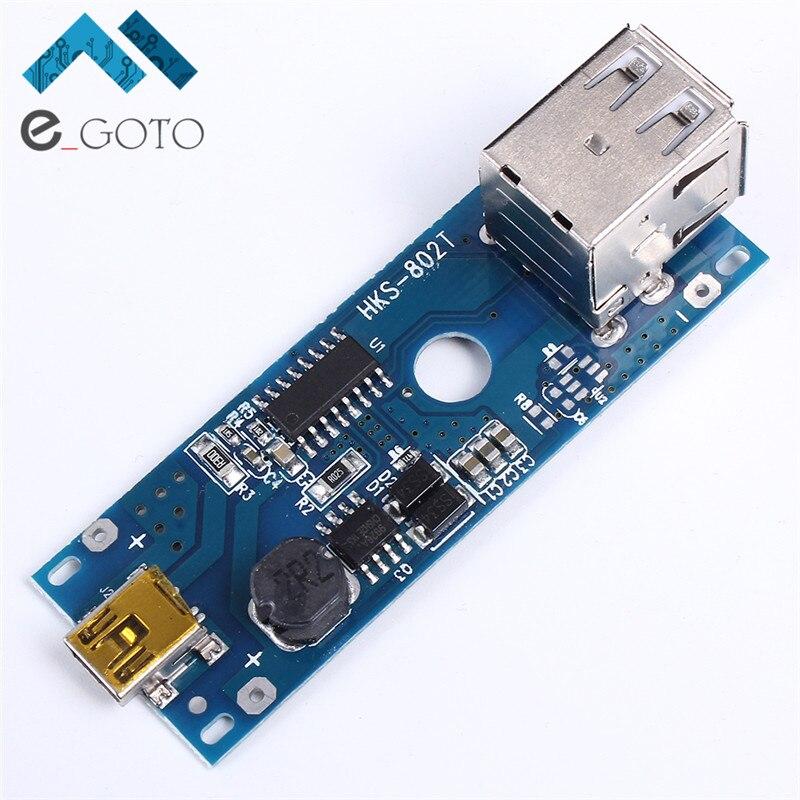5 V 2.1A Cargador del Banco de Potencia Stepp Up Boost Módulo Mini USB 18650 Bat