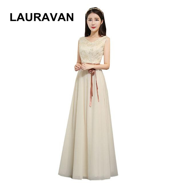 b5bf3ae09f modest champagne bridesmaid gowns custom made for special occasion dress  elegant dresses women new arrival 2018 free shipping