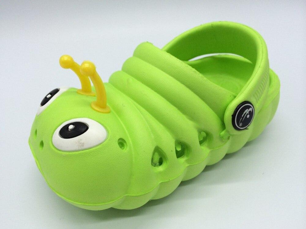 Летние от 1 до 5 лет детские сандалии мультфильм для мальчиков и девочек садовая обувь мягкая подошва детские тапочки детская обувь - Цвет: 2