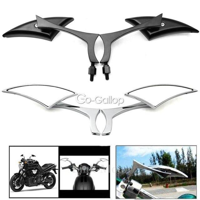 Universal Blade Motorcycle Rearview Side Mirrors For Honda Yamaha Kawasaki Suzuki Harley Touring Cruiser Chopper Street Bike