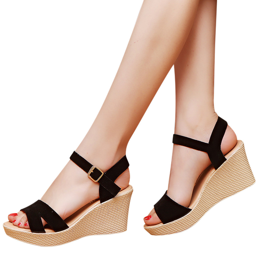 SIKETU Shoes Sandals Summer De Sapato Feminino Couro -G35 Wedges Hot-Sale