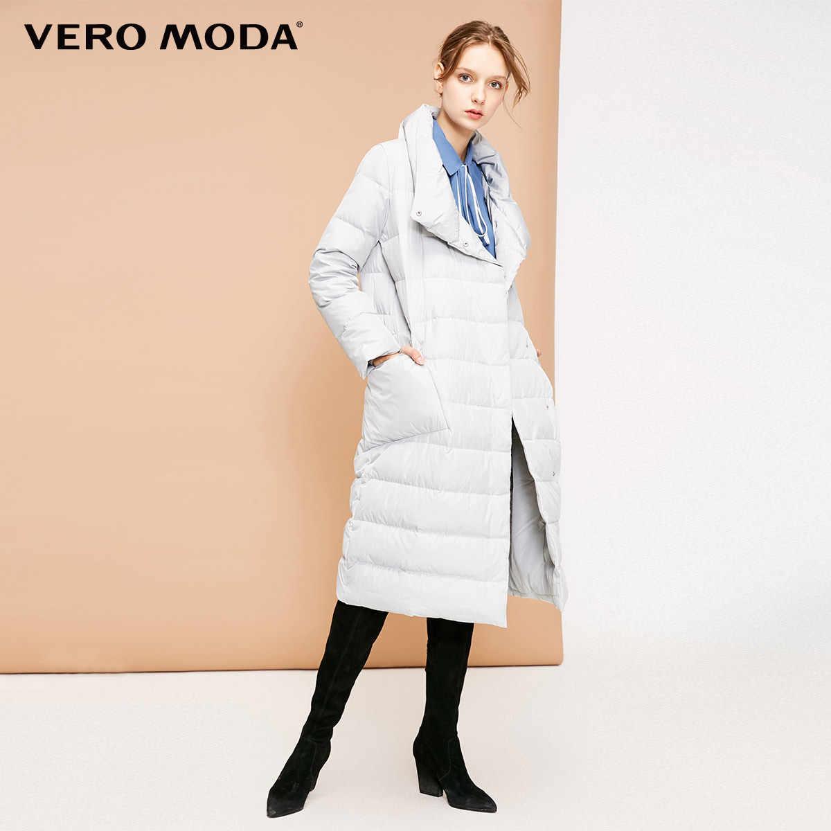 Vero Moda новый 90% белый утиный пух боковой карман длинный пуховик для женщин | 318312511