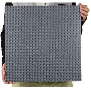 Image 1 - 50*50 punktów małe cegły DIY klocki duże płyta podstawowa 40*40 CM małe klocki klocki dla dla dzieci płyta bazowa