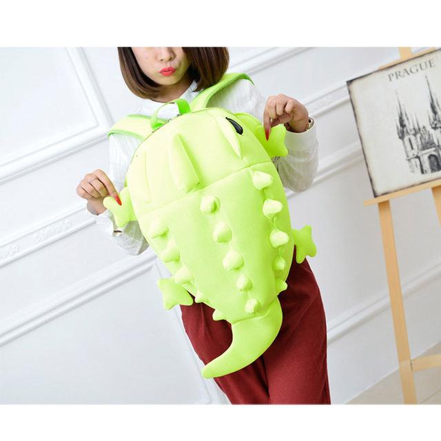 Cute 3D Solid Chameleon Backpack for Girls