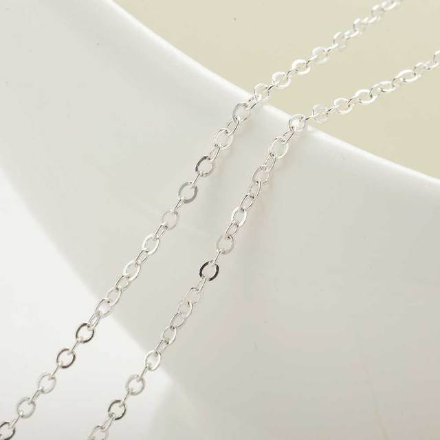 Silver Necklace Grandmother and Granddaughter Pendant Chain Necklace