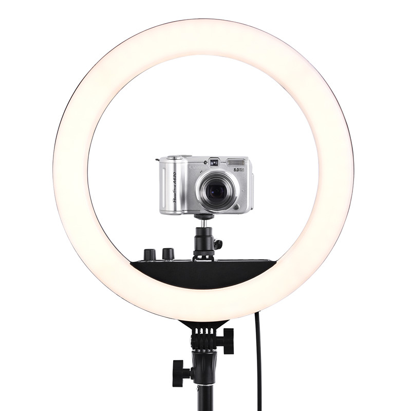 "Image 5 - Fusitu RL 12II 14"" Photography Studio 3200 5600K Led Ring Light With Tripod Stand Light Lamp For Camera Photo Studio Phone Video-in Photographic Lighting from Consumer Electronics"