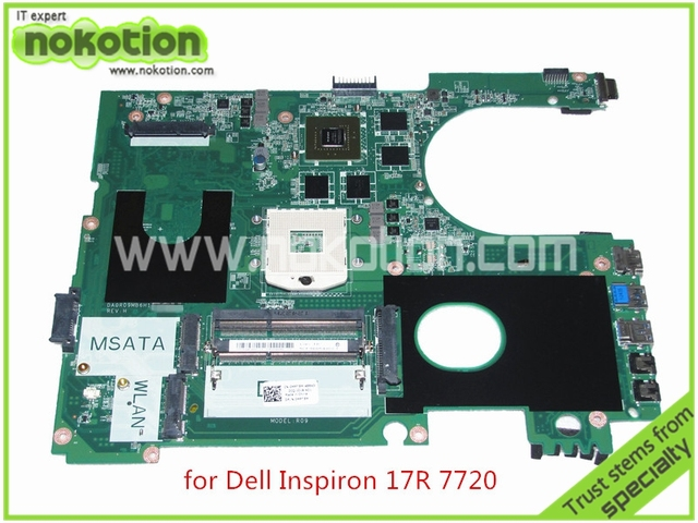 Da0r09mb6h1 REV H CN-0MPT5M MPT5M para Dell inspiron 17R 7720 motherboard Nvidia GeForce GT650M HD4000