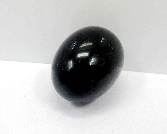 Yoni Egg,Natural Black Obsidian Gem Stone Eggs Polished Chlorophane Massage Chakra Healing Reiki Egg App 36*48mm