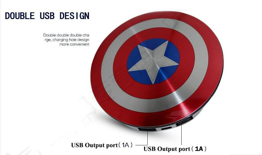 2016-Avengers-Captain-America-Shield-Power-Bank-Charger-USB-6800mAh-for-all-mobile-phone-with-Package (2)