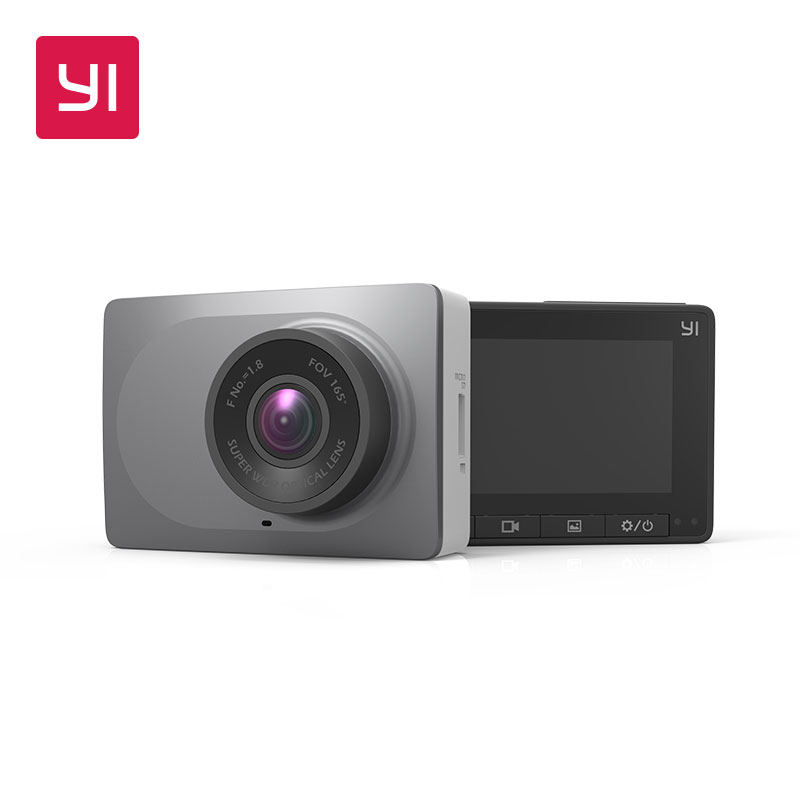 YI Smart Camera 2.7 Screen Full HD 1080P 60fps 165 degree Wide-Angle Vehicle Dash Cam with G-Sensor Night Vision ADAS