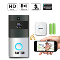 DAYTECH Wireless Doorbell Ring Chime Door Bell Video Camera WiFi IP 720P IR Night Vision Two Way Audio