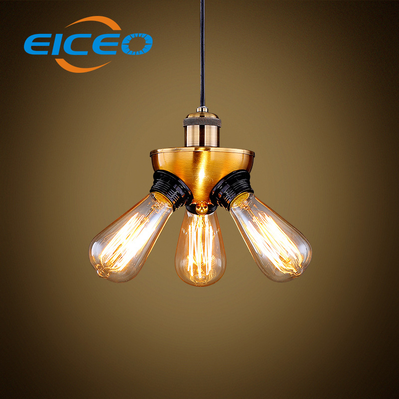 ФОТО (EICEO) Hot sale Modern Metal Glass Lighting Copper Droplight LED Pendant Lamp Hanging Style Lamps pendant lighting