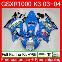 Корпус для SUZUKI GSX R1000 GSXR 1000 03 04 Кузов rizla Blue 36SH6 GSXR 1000 GSXR1000 03 04 K3 GSX R1000 2003 2004 обтекатели