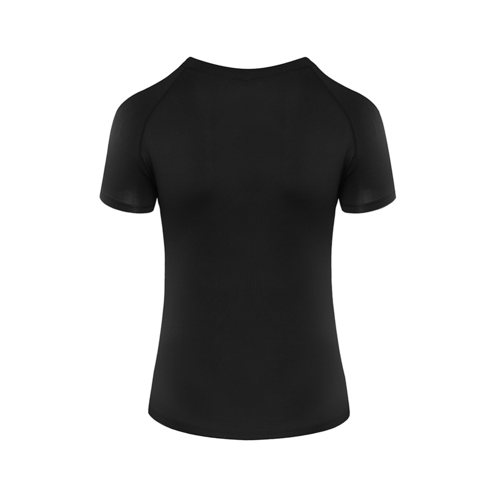 Slim Fit Crop Sports T-shirt - Women's Run Running Training Boxing Soft Leisure Short Sleeve Top Tee Activewear XL Plus Size 2