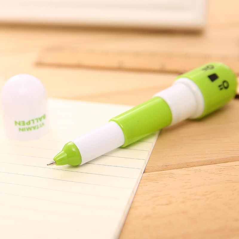 Śliczne Kawaii kapsułki kreatywne pigułki kulkowe długopisy kulkowe na przybory do pisania w szkole papiernicze