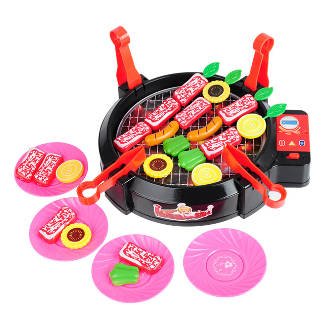 Playing House Electric Barbecue Oven Mini Kitchen Playset Early Development and Educatio ...
