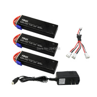 7 4V 3000mAh 10C Hubsan H501S Lipo Battery 3PCS UL Charger Hubsan H501C Rc Quadcopter Airplane