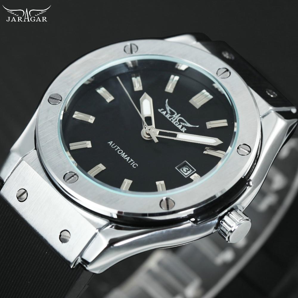 Sport männer Automatische Uhren Top Luxus Marke WINNER Fashion männer Military Mechanische Handgelenk Uhren Montre Homme Gummi Band