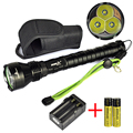 Hot !!! 3T6 4000 lumens Flash Light XM-LT6 5-Mode LED Tactial Flashlight Torch Lamp with 2x 18650 battery / Charger